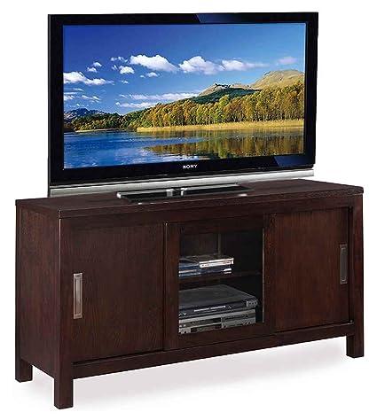 TV Console in Chocolate Oak Finish