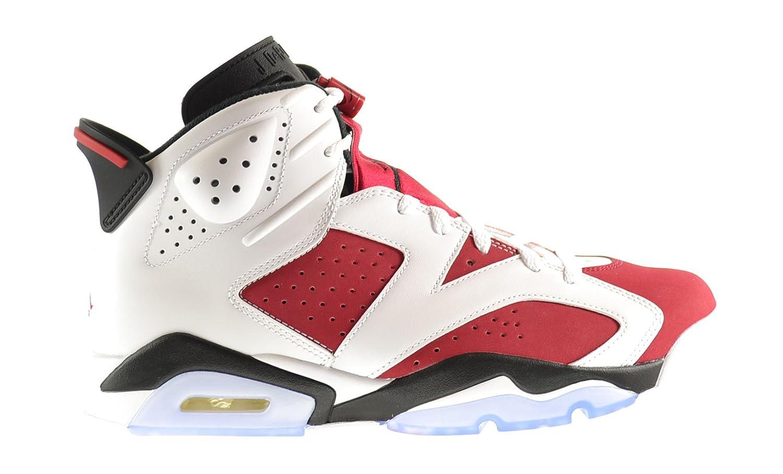 Air Jordan Retro 6 Men\\u0026#39;s Shoes White/Carmine-