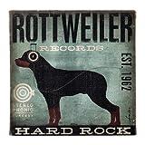 Dogs Rock Rottweiler Wall Art, Blue