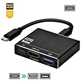 WBPINE USB C Hub HDMI 3-in-1 Multiport Adapter with 4K 60HZ HDMI Port, 1 USB 3.0 Ports and USB-C 5Gbps Port for Mac Pro and Other Type C Devices