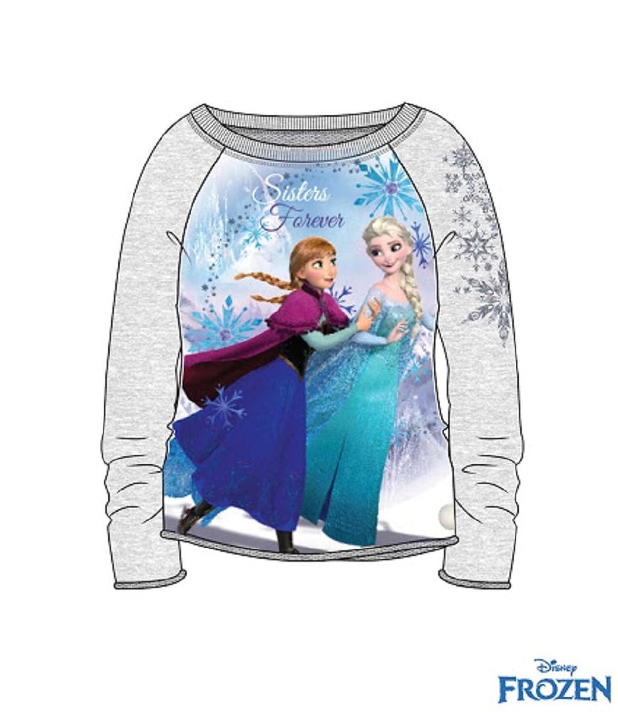 Disney Die Eiskönigin Mädchen Sweatshirt grau 104 bis 140 online kaufen