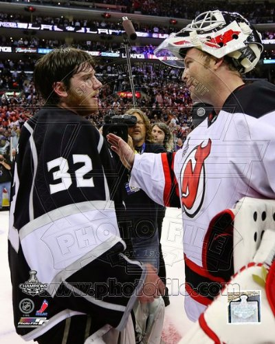 Jonathan Quick & Martin Brodeur Game 6 of the 2012 Stanley Cup® Finals