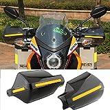 "Pair Motorcycle Hand Guards 7/8"" 22mm Handlebar Handguard Handle Protector Bike Brush Wind Guard (Black)"