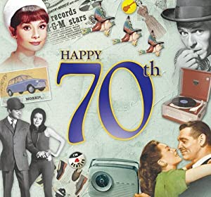 Como, Bay City Rollers, Mott The Hoople - Happy 70th Birthday Card and