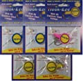 Hook-Eze (5 Packs 2 Blue, 2 Yellow, 1 Pink) Fishing Hook Cover and Safety Tieing Device from R.Bain 2010 Hook-Eze Pty Ltd