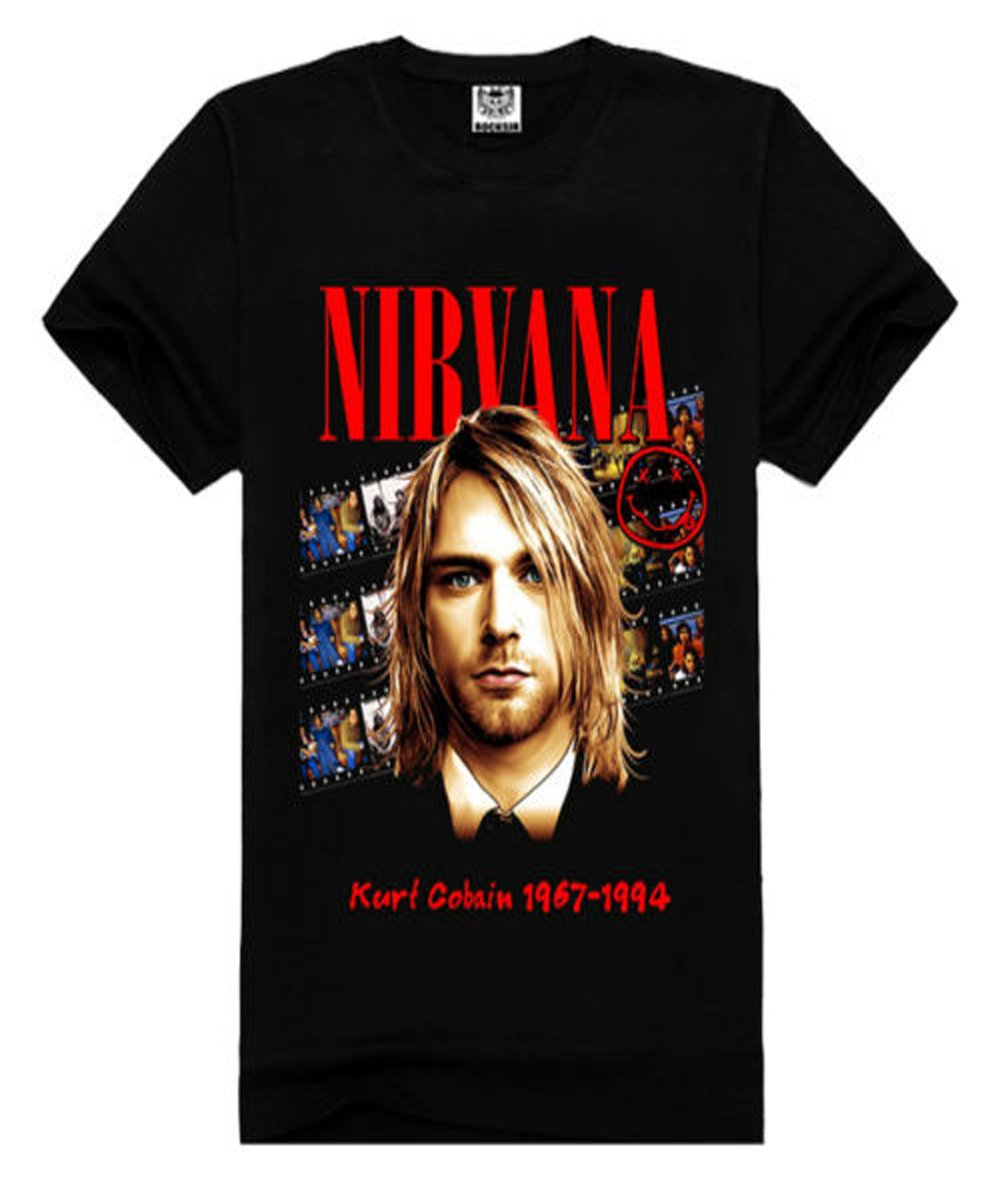 Nirvana Vintage Style Black Graphic T-Shirt 0
