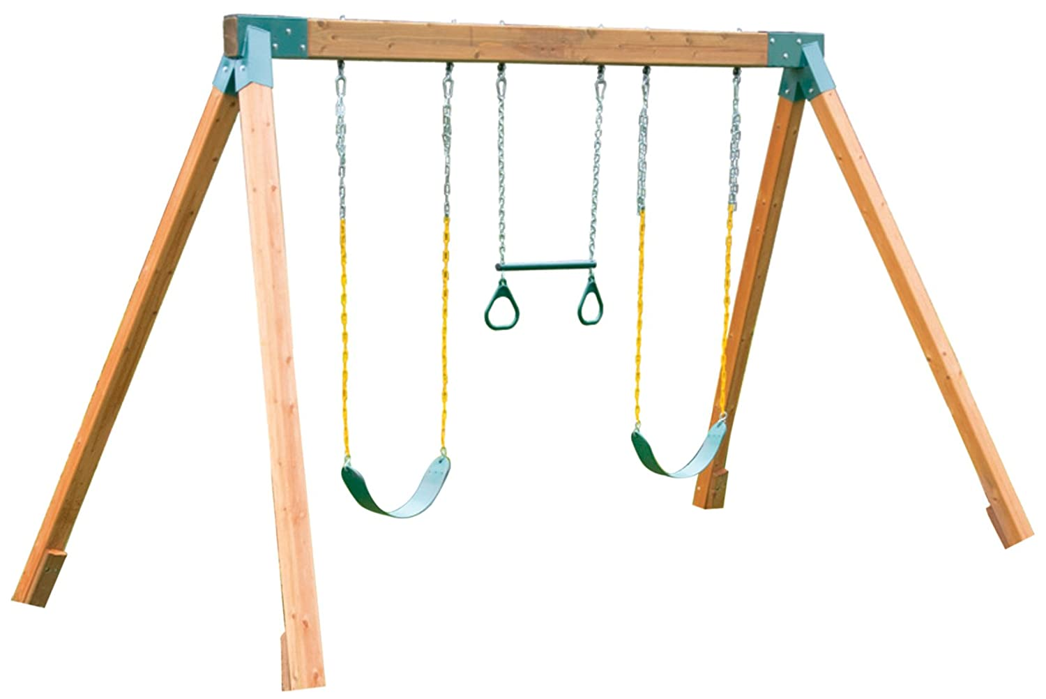 Best small swing sets for small yards reviews top kids gear for Small wooden swing sets
