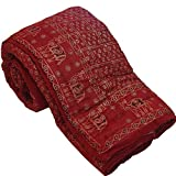 Bagru Crafts Traditional Desgin Jaipuri Hand Block Print Double Bed Quilt, Jaipuri Razai