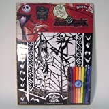 Nightmare Before Christmas Glow in the Dark Velvet Doodles Coloring Kit with Markers