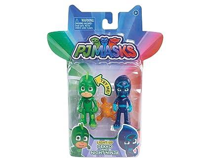 Pyjamasques – Gluglu & Ninja K – 1 Figurine Lumineuse + 1 Figurine 7 cm