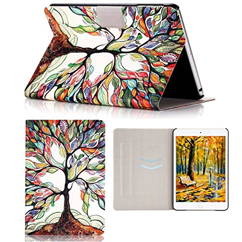 iPad Mini 1/ 2/ 3 Case, Case-cubic Ultra Slim [Lightweight] PU Leather Flip Stand Case with [Auto Wake/Sleep Function] Smart Cover for Apple iPad Mini 3/ 2/ 1 - Love Tree (Ipad Mini Smart Case Leather compare prices)