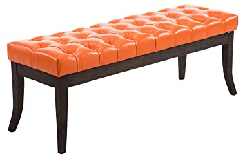 Bench Ramses Kunstleder antique-darkly 120 arancione
