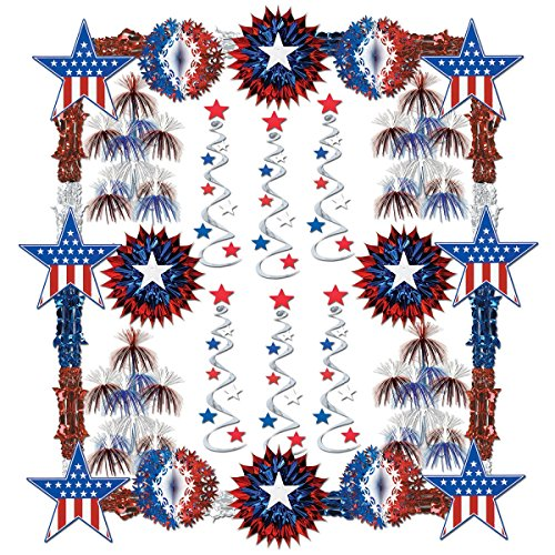 Patriotic Reflections Decorating Kit - 28 Pcs Party Accessory (1 count)