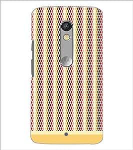 Printdhaba Dot Pattern D-1474 Back Case Cover For Motorola Moto X Play