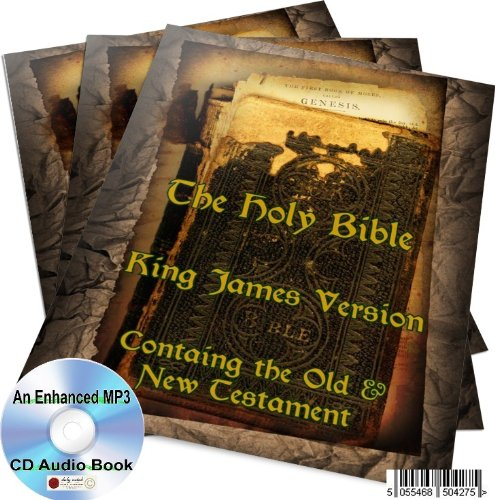 THE KING JAMES BIBLE OLD AND NEW TESTAMENT AN ENHANCED MP3 CD AUDIO BOOK