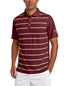 Callaway Mens Short Sleeve Printed Stripe Polo by Callaway