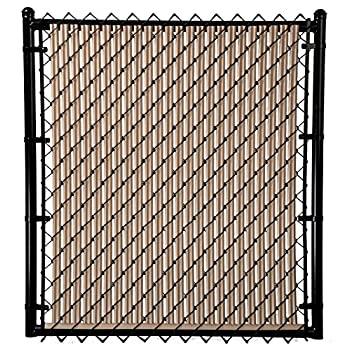 4ft Beige Ridged Slats for Chain Link Fence