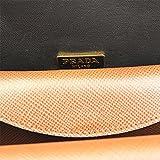 PRADA Women's Saffiano Leather Shoulder Bag Bi-Color Bt0966