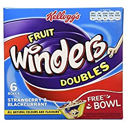 Kellogg's Fruit Winders Doubles Strawberry & Blackcurrant, 102g