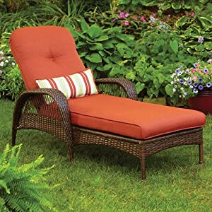 Better homes and gardens azalea ridge chaise for Better homes and gardens hillcrest outdoor chaise lounge
