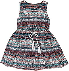Sequences Girl's Dress(Multicolor, 5 - 6 Years )