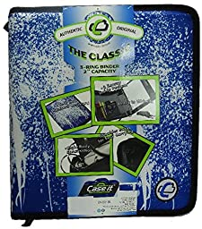 Case it Limited Edition Spray Blue/White 3-Ring Binder
