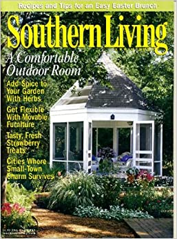 Southern living april 2000 a comfortable outdoor room Southern living garden book