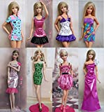 KUPOO Group of 8 Fashtion Cocktail Dresses Made to Fit the Barbie Doll (8 Clothes Set)