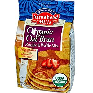 Arrowhead Mills - Organic Oat Bran Pancake & Waffle Mix, Whole Grain ...