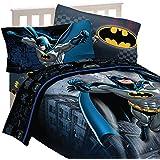 4pc DC Comics Batman Twin Bedding Set Guardian Speed Comforter and Sheet Set