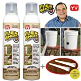 FLEX SHOT Almond - As Seen On TV - 2 pack special $17.99 per JUMBO can + 2 extension tubes