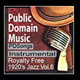 Thomas Edison Records Instrumental Public Domain Music 1920s License Free Royalty Free Songs Vol.6