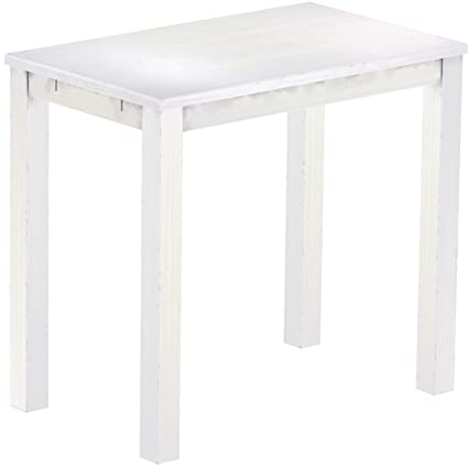 Brasil High Table 'Rio' 120 x 73 cm Solid Pine Wood White