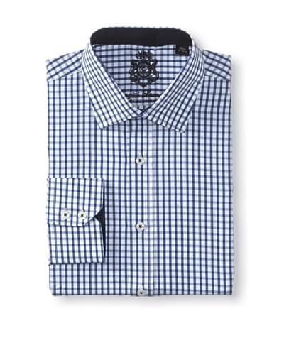 English Laundry Men's Gingham Dress Shirt
