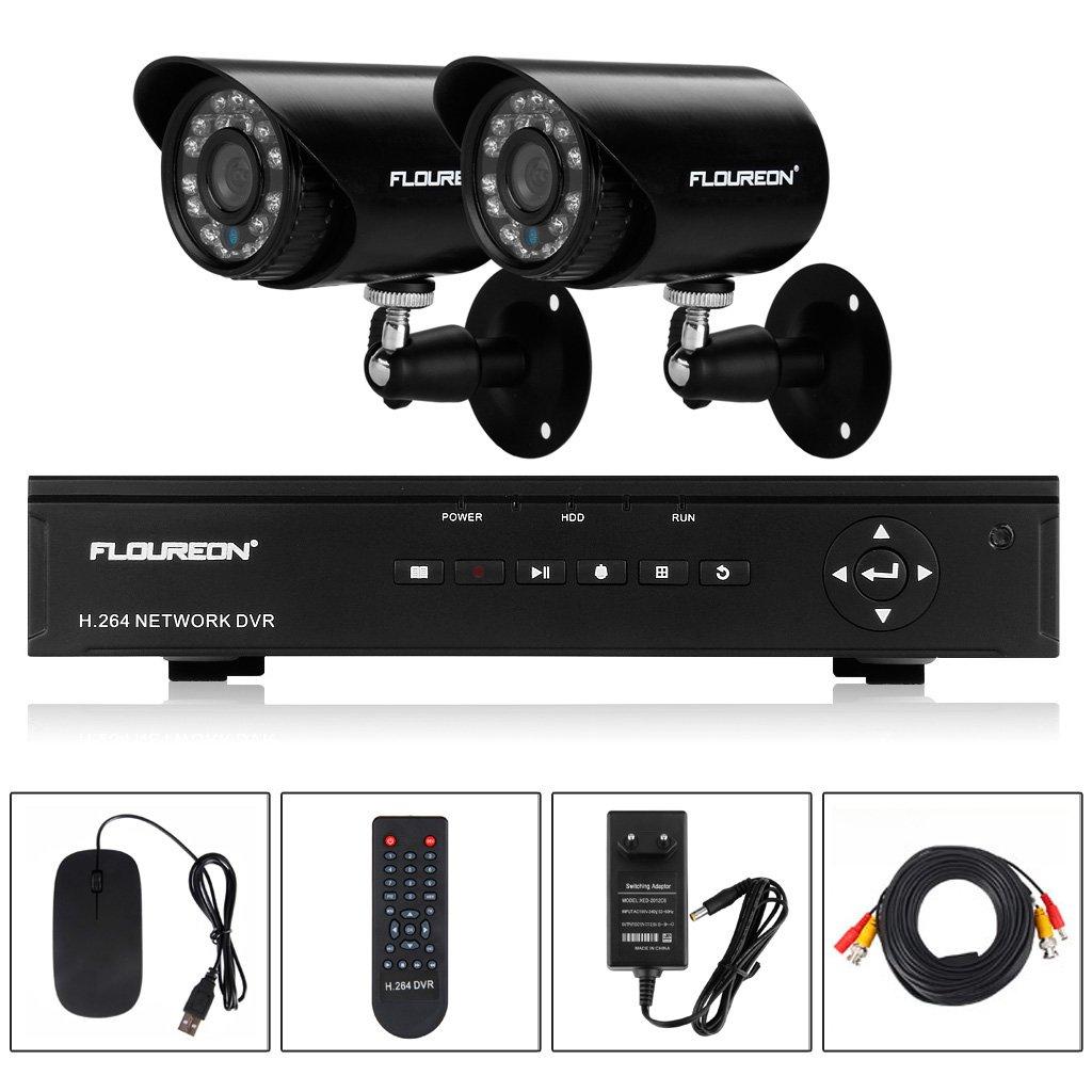 FLOUREON® Wasserdichte Videoüberwachung Set 4 CH 960H  Kundenbewertung und Beschreibung