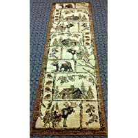 Cabin Style Area Rug Runner 2 Ft. 2 In. X 7 Ft. 2 In. Design # L-362