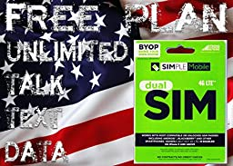 Unlimited International Calling Plan INCLUDED 2GB 4G LTE Unlimited Talk/Text/Data Set Up Bundle