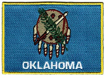 oklahoma state flag embroidered patch ironon ok emblem at