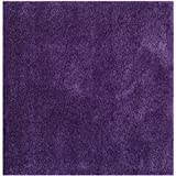 Safavieh Milan Shag Collection SG180-7373 Purple Square Area Rug, 7-Feet