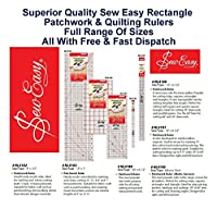 Sew Easy Rectangle Patchwork Ruler Measure Quilter Craft Home All Sizes & Styles by Sew Easy