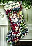 Dimensions Gold Cross Stitch Kit - Stocking, Candy Cane Santa