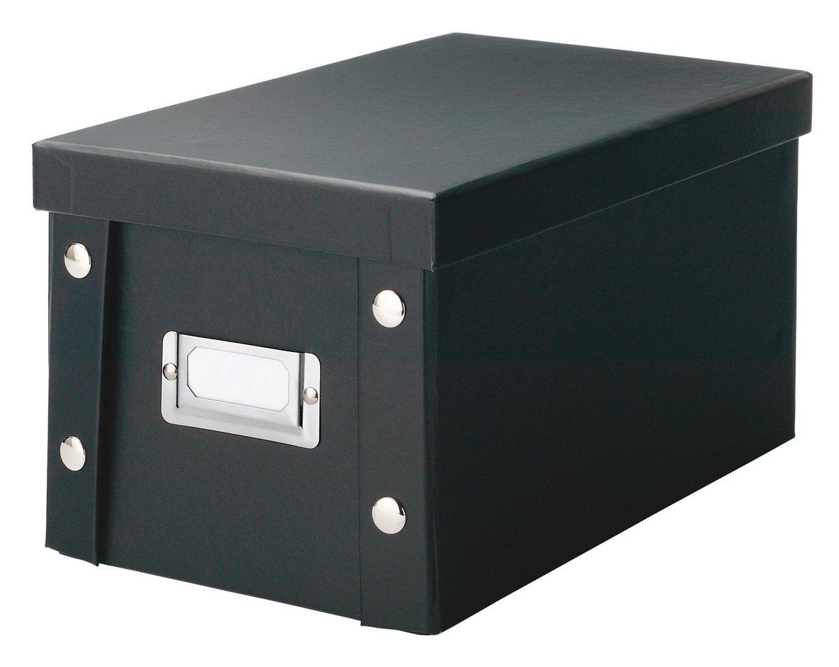 Zeller 17938 - Caja de cartón porta CD (16 x 28 x 15 cm), color negro   revisión y más información