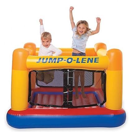 Aire de jeu trampoline gonflable, 1,74 x 1,74 x 1,12 m -PEGANE-