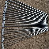 Tinksky 11 paires de 36cm en acier inoxydable droit simple tricot aiguilles au Crochet crochets - 2,0 mm à 8,0 mm (Argent)