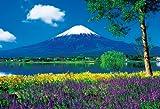 1000ピース ジグソーパズル 富士とラベンダー咲く湖畔(49x72cm)