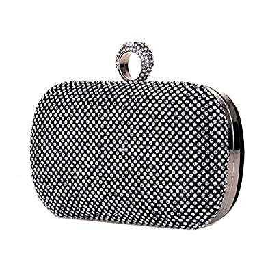 Senchanting Clutch Ring Knuckle Clutch Purse Cocktail Evening Bag with Rhinestones Purse
