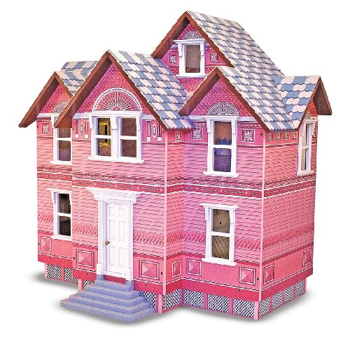 Melissa-Doug-Classic-Heirloom-Victorian-Wooden-Dollhouse