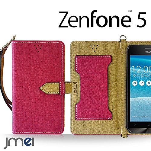 ZenFone5 A500KL ケース JMEIオリジナルカルネケース VESTA ホットピンク ゼンフォン 5 simフリー 楽天モバイル スマホ カバー スマホケース 手帳型 ショルダー スマートフォン