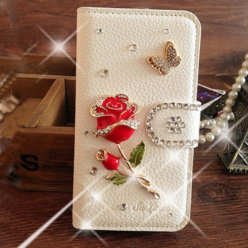 alcatel-one-touch-idol-3-55-case-elegant-red-rose-bling-crystal-white-pu-wallet-leather-case