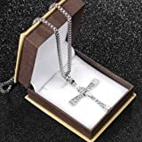 Alicenter(TM) New Hot The Fast and The Furious Dominic Toretto CROSS PENDANT Chain Necklace
